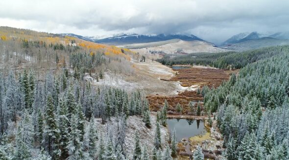 Autumn Snow in the Rocky Mountains