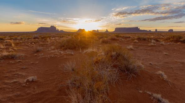 Time Lapse Desert Sunrise
